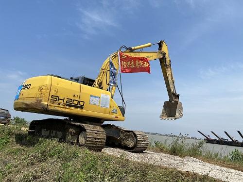 洪水面前共担当,中国建筑与鄱余人民同行